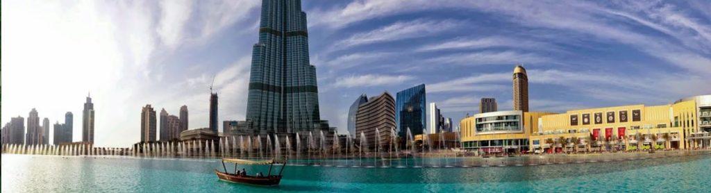 Бурдж Халифа и поющие фонтаны, Дубай. ОАЭ.