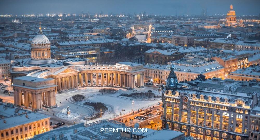 Новогодние туры из Перми в Санкт Петербург